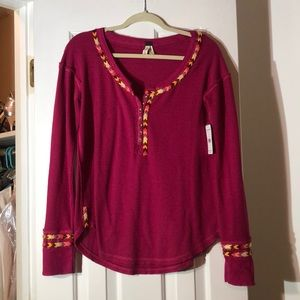 Free People embroidered thermal